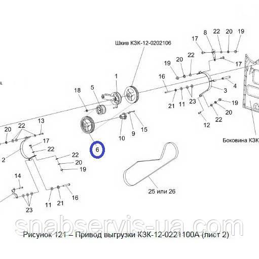 Шкив 2-х руч. привода выгрузки КЗС-1218