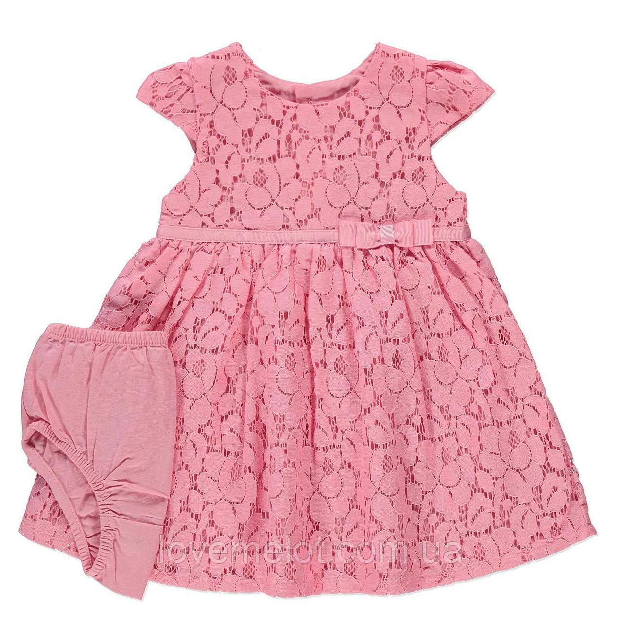 """Детское нарядное платье на рост 68см для девочки комплект нарядный на 3-6мес.""""Гипюр"""""""