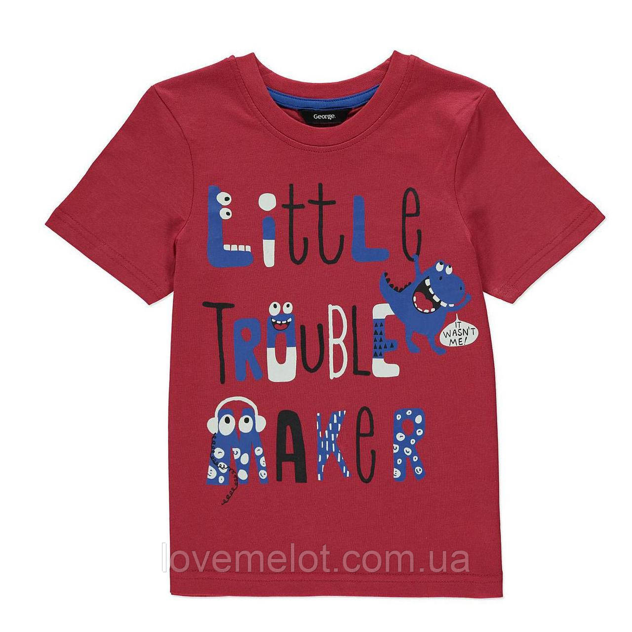 """Детская футболка для мальчика George """"Маленький Проказник"""" 80, 86 рост"""