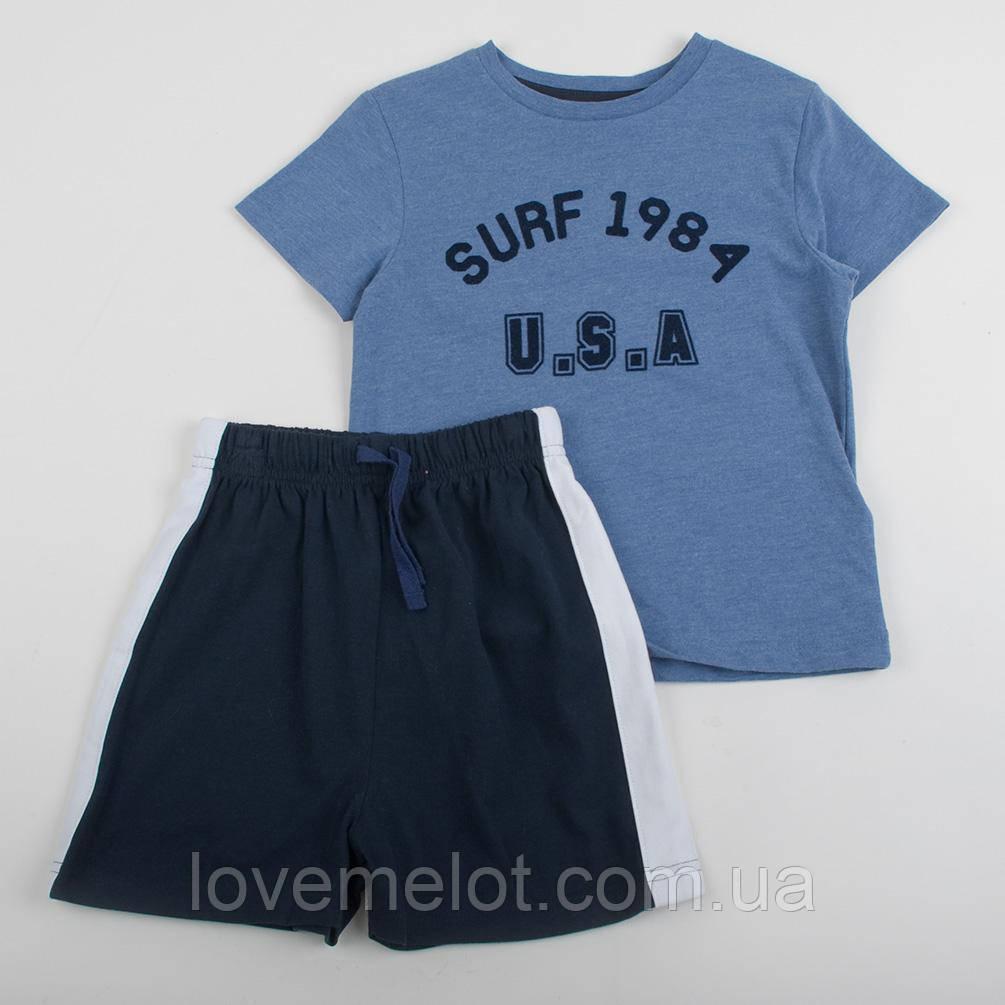 """Дитячий костюм M&S """"Серфінг 84"""" для хлопчика, футболка і шорти, зріст 92 см"""