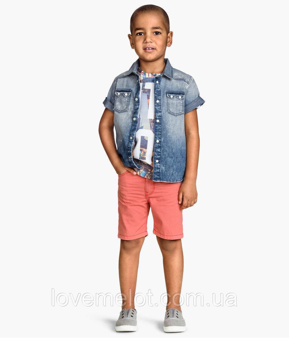 Детские шорты бермуды H&M коралловые для мальчика, размер 92 см