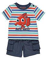 """Детский костюм, набор футболка+шорты для мальчика, рост 80см """"Весельчак Немо"""""""