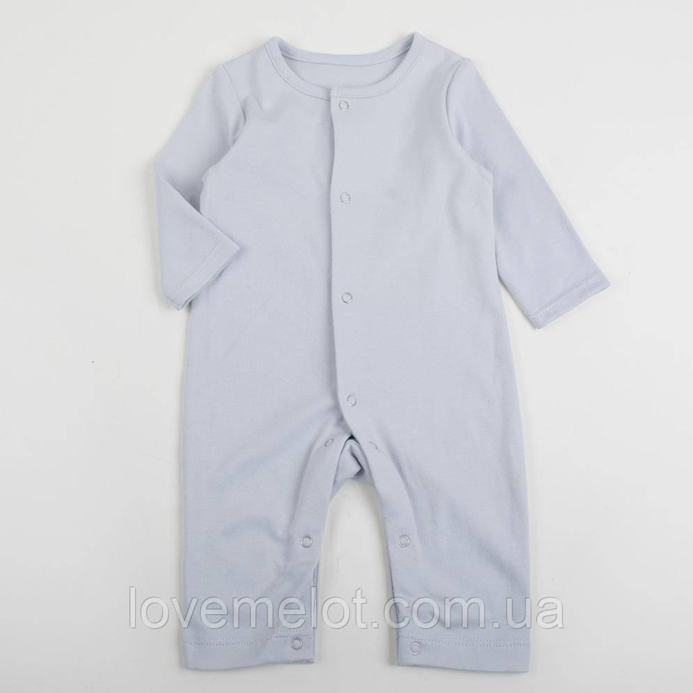 Детские человечки без стоп серый уни слипы для детей, рост 68см