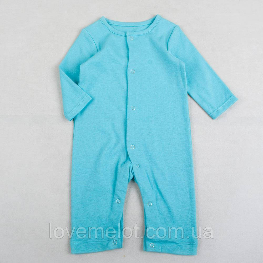 Детские человечки без стоп слипы для детей бирюзовый уни рост 74см