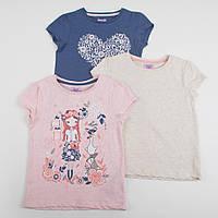 """Детские футболки нарядные для девочки набор 3 шт George """"Райский сад"""" размер 92 см"""