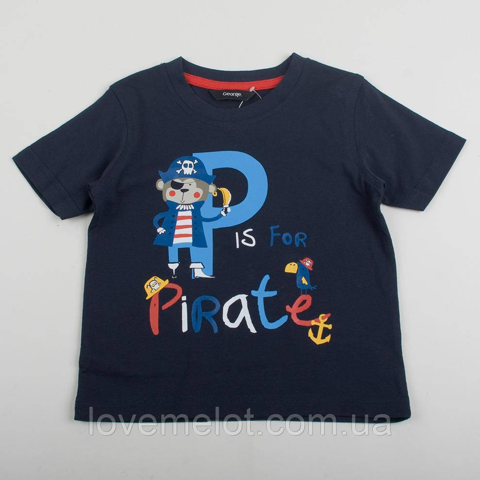 """Детская футболка для мальчика George """"Арчи"""" синяя, рост 86, 92 см"""