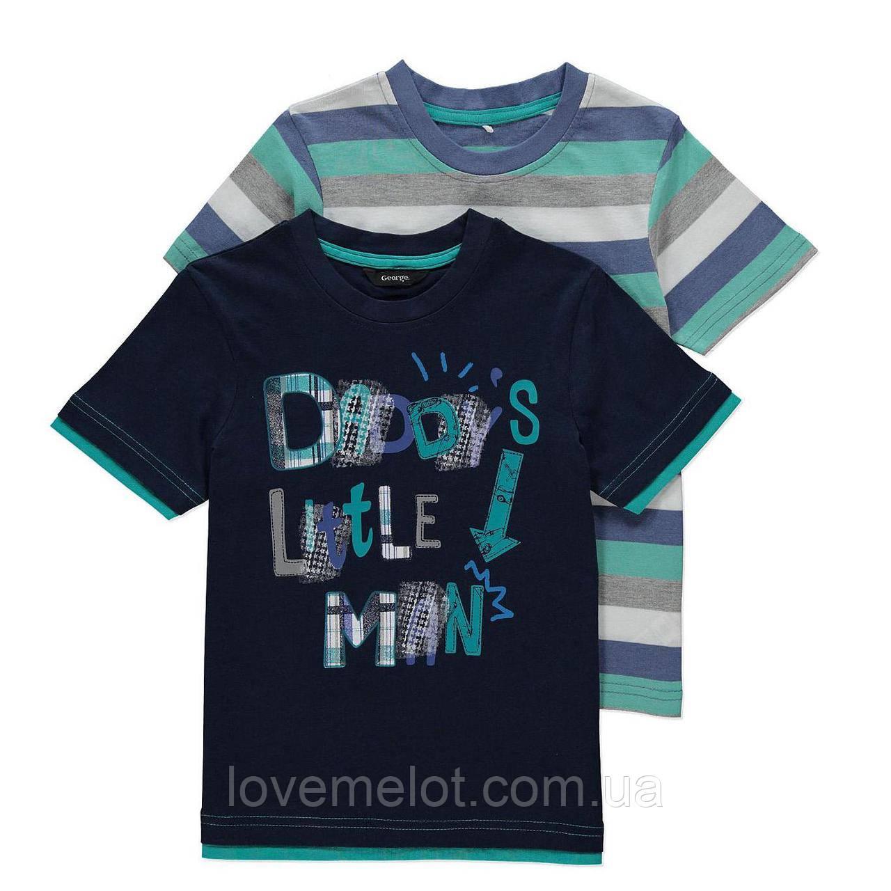 """Детские футболки George  """"Папин мальчуган"""", набор 2 шт, размер 86 см"""