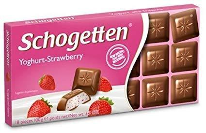 Немецкий шоколад Schogetten Клубника, 100гр