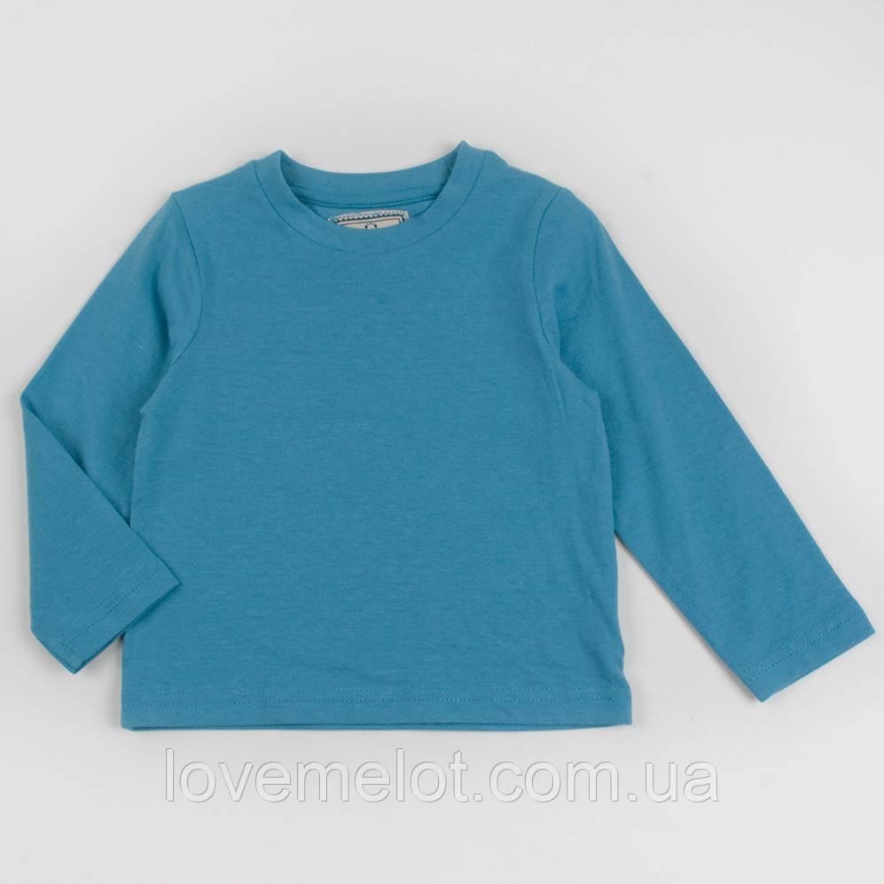 """Детский реглан с длинным рукавом Mothercare """"Джаз"""" голубой, реглан для мальчика размер 80 см"""