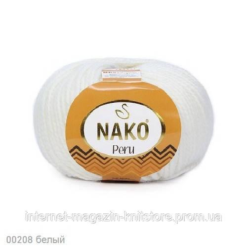 Пряжа Nako Peru Білий