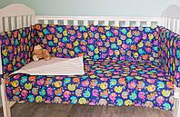 """Защитные бортики для кровати - 3 секции """"Сказки Индии"""", фото 1"""