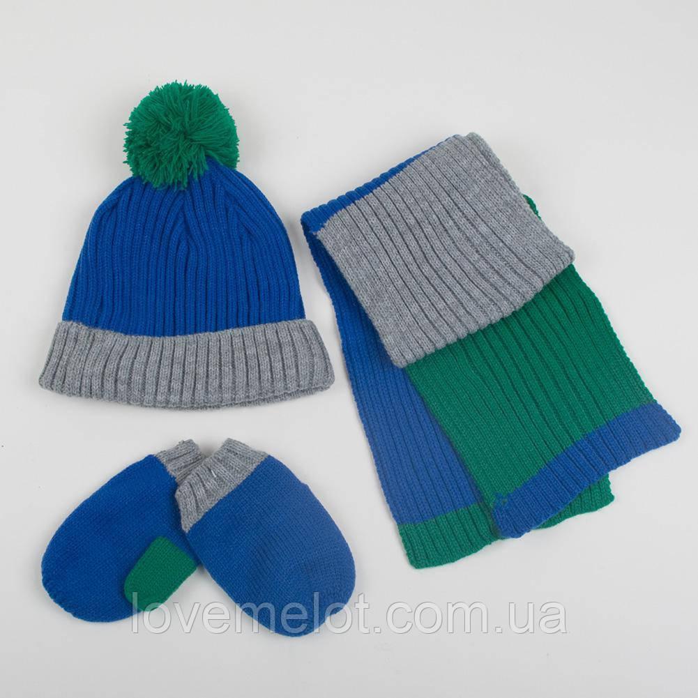 """Набор для ребенка от Next детская шапка + шарф + варежки """"Брюс"""" для мальчика на 6-12 мес и 1-2года"""