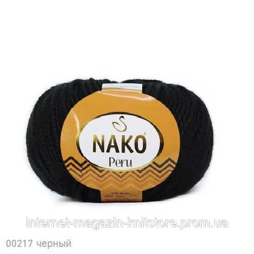 Пряжа Nako Peru Чорний