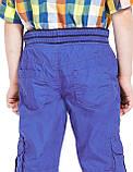 """Детские брюки на подкладке """"Джон"""" синие для мальчика на рост 92см, фото 2"""