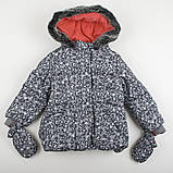 """Дитяча Куртка тепла зимова дитяча """"Гепардовый гламур"""" для дівчинки на ріст 92 і 98см, фото 2"""