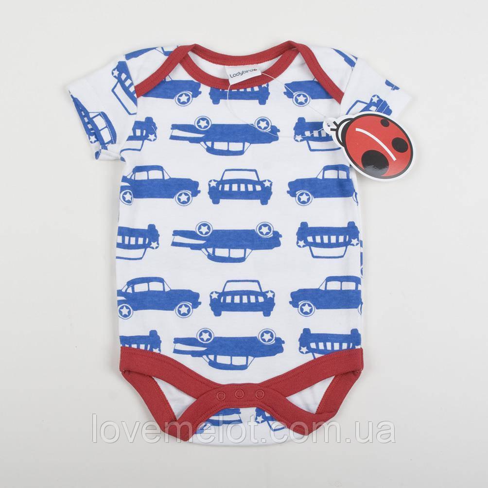 """Детский бодик для мальчика на рост 62см Ladybird """"Моя машина"""", боди хлопковый для мальчика"""