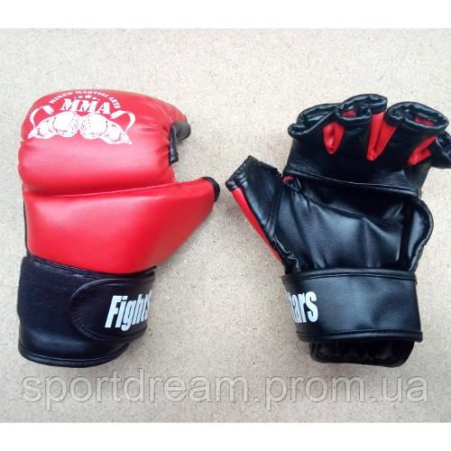 Перчатки для ММА М1 кожзам Lev красные LV-5001  размер L