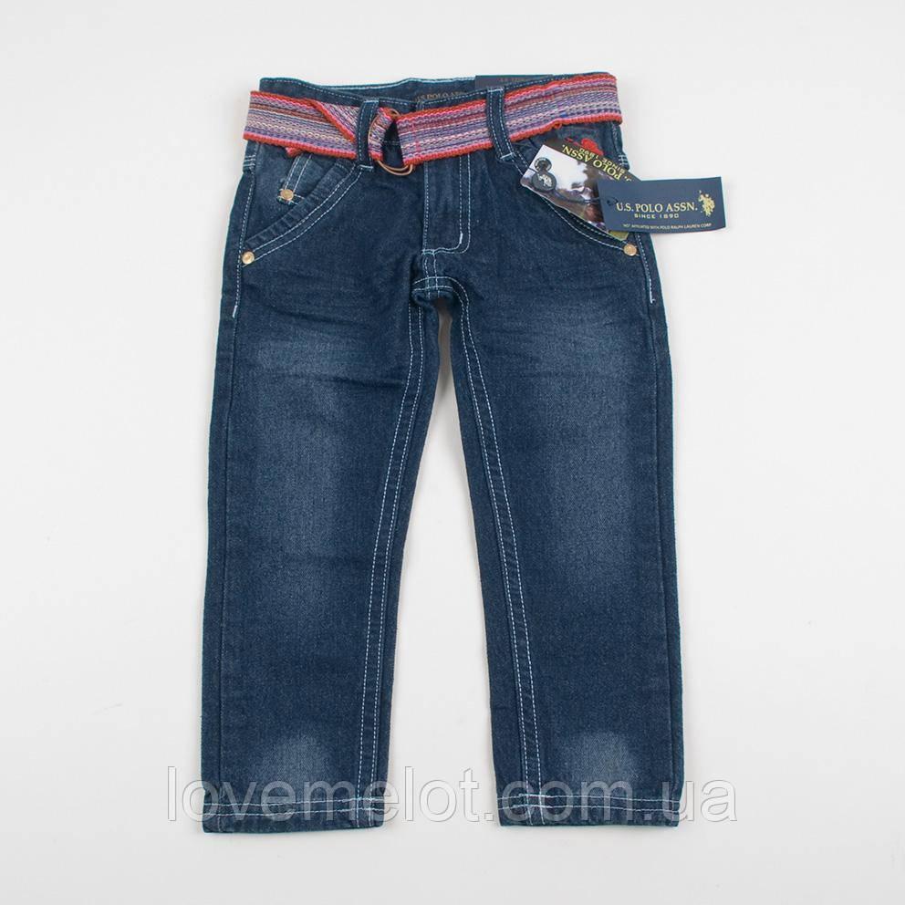 """Детские джинсы с поясом """"Бомбей"""" для мальчика на рост 92 см"""