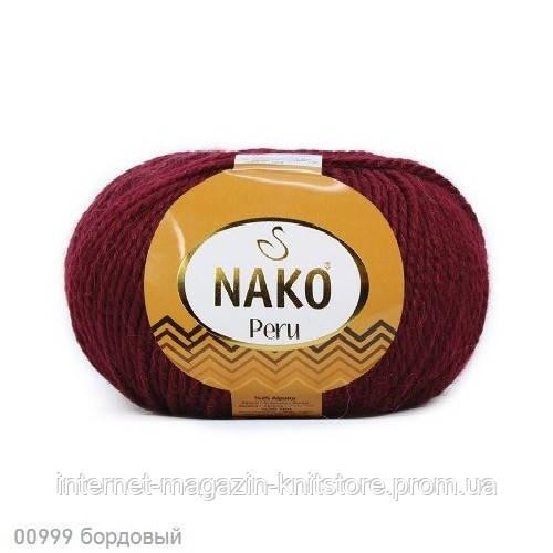 Пряжа Nako Peru Бордовый