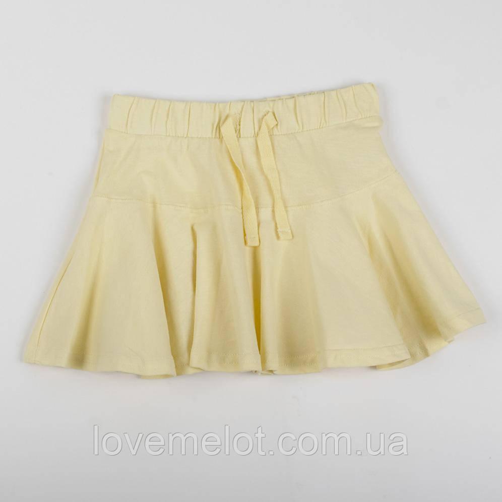 """Дитяча спідничка поштучно """"Промінчик"""" жовта для дівчинки"""