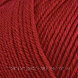 Пряжа Nako Peru Темно красный