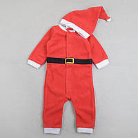 Человечек новогодний флисовый, карнавальный костюм с колпаком H&M Санта и Дед Мороз рост 74, 80, 92см