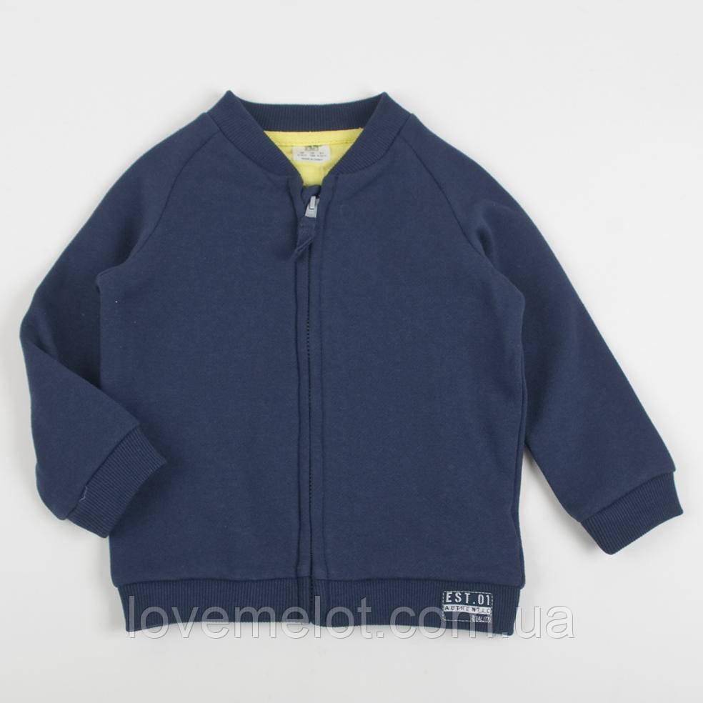 """Детский теплый реглан F&F """"Норман"""" для мальчика на рост 80 и 86см, детская кофта на молнии"""