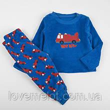 """Детская пижама теплая флисовая пижамка """"Мой путь"""" для мальчика на рост 80см"""