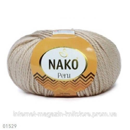 Пряжа Nako Peru Бежевый