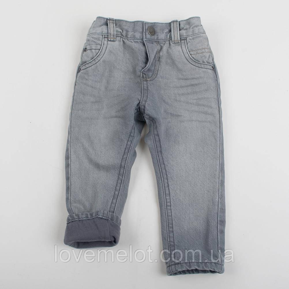"""Детские джинсы теплые на подкладке """"Джей"""" для мальчика на рост 74см"""
