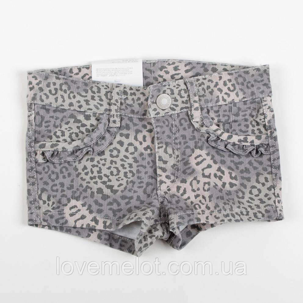 """Детские Модные шорты для девочки на рост 92см и 98см  H&M """"Леопардия"""" для девочки"""