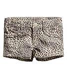 """Детские Модные шорты для девочки на рост 92см и 98см  H&M """"Леопардия"""" для девочки, фото 2"""