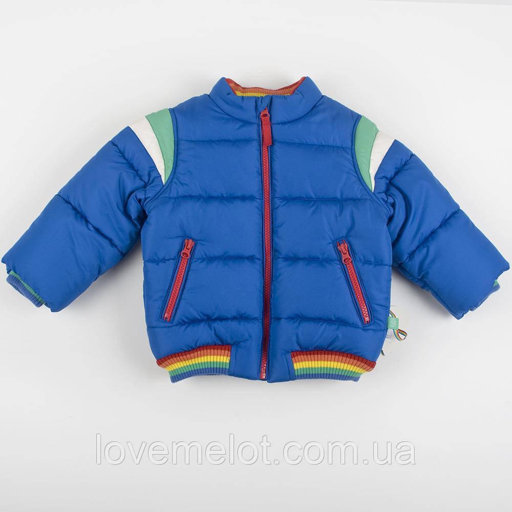 """Дизайнерська Дитяча тепла куртка """"Грінвіч"""" для хлопчика, розмір 86 см"""