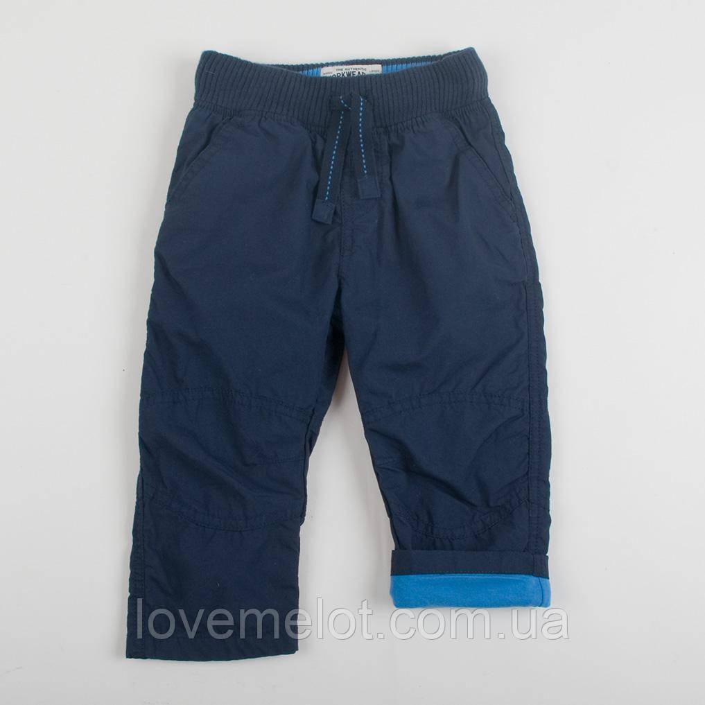 """Брюки детские на голубой подкладке для мальчика, рост 86см """"Юниор"""""""