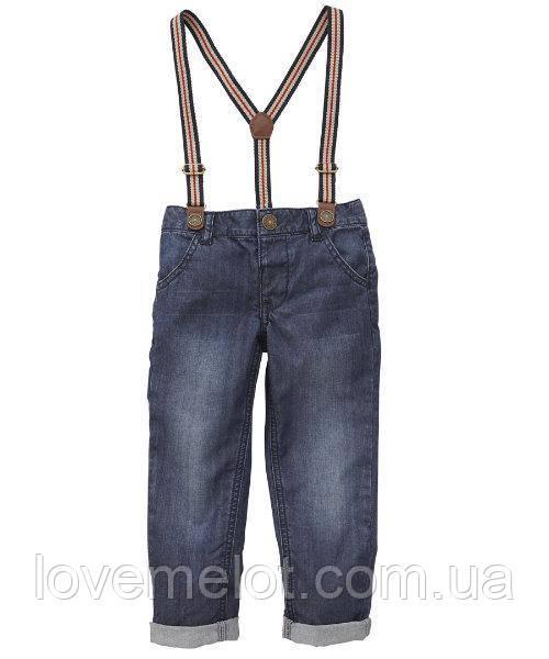 """Детские джинсы на подтяжках """"Кэвин"""" для мальчика на рост 92"""
