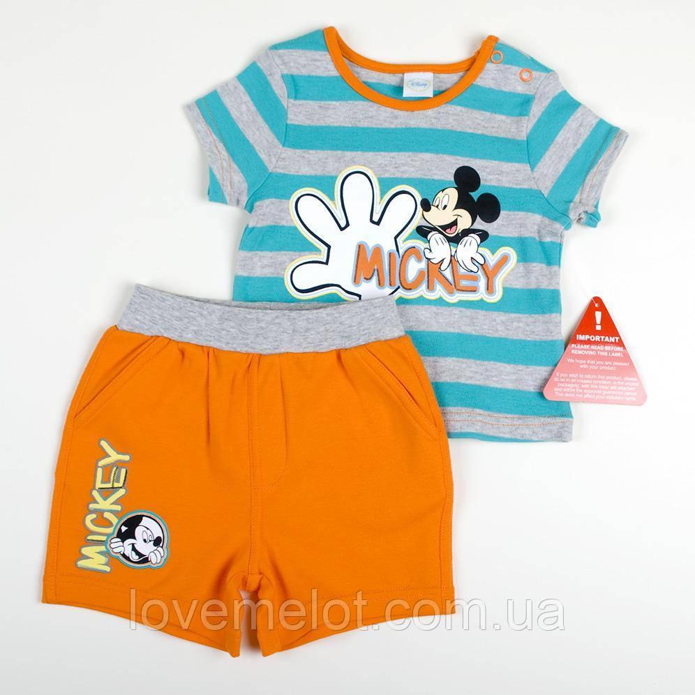 """Детский летний костюм шорты и футболка, набор трикотажный для мальчика рост 74 см Ladybird """"Микки"""""""