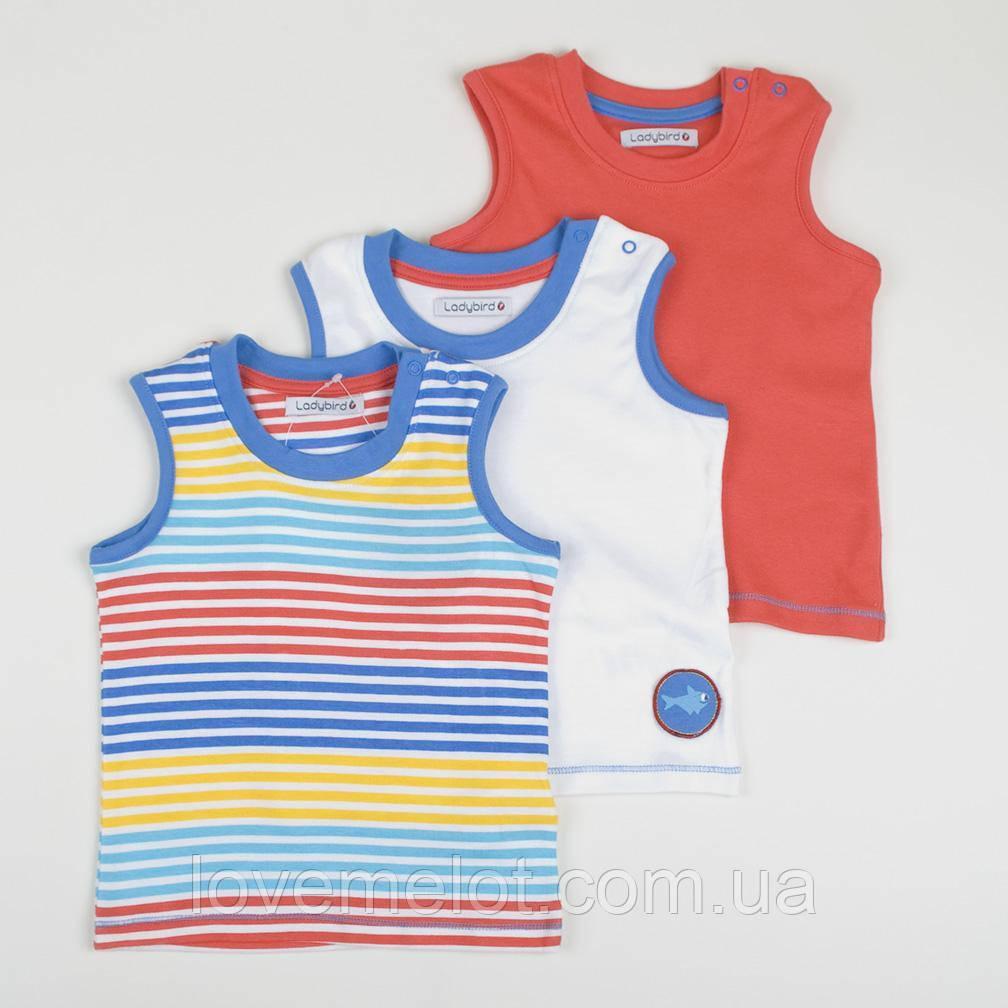 """Детские майки Ladybird """"Штурман"""" для мальчика, набор 3 шт, размер 68 см"""