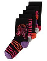 """Детские носки хлопковые для ребенка девочки """"Пони"""" 1-2 года"""