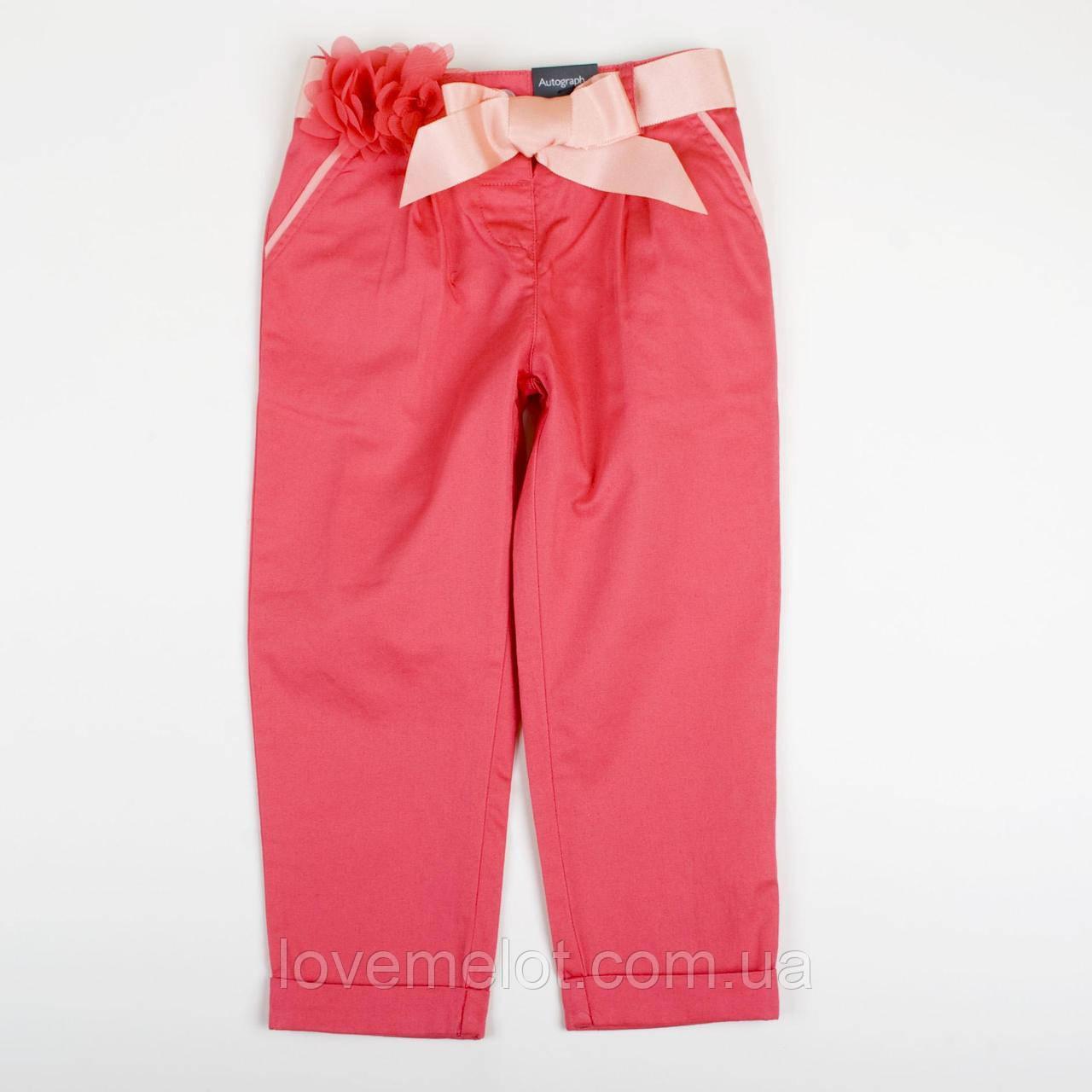 """Детские нарядные брюки для девочки на рост 92см  """"Розовый цветок"""" для девочки"""