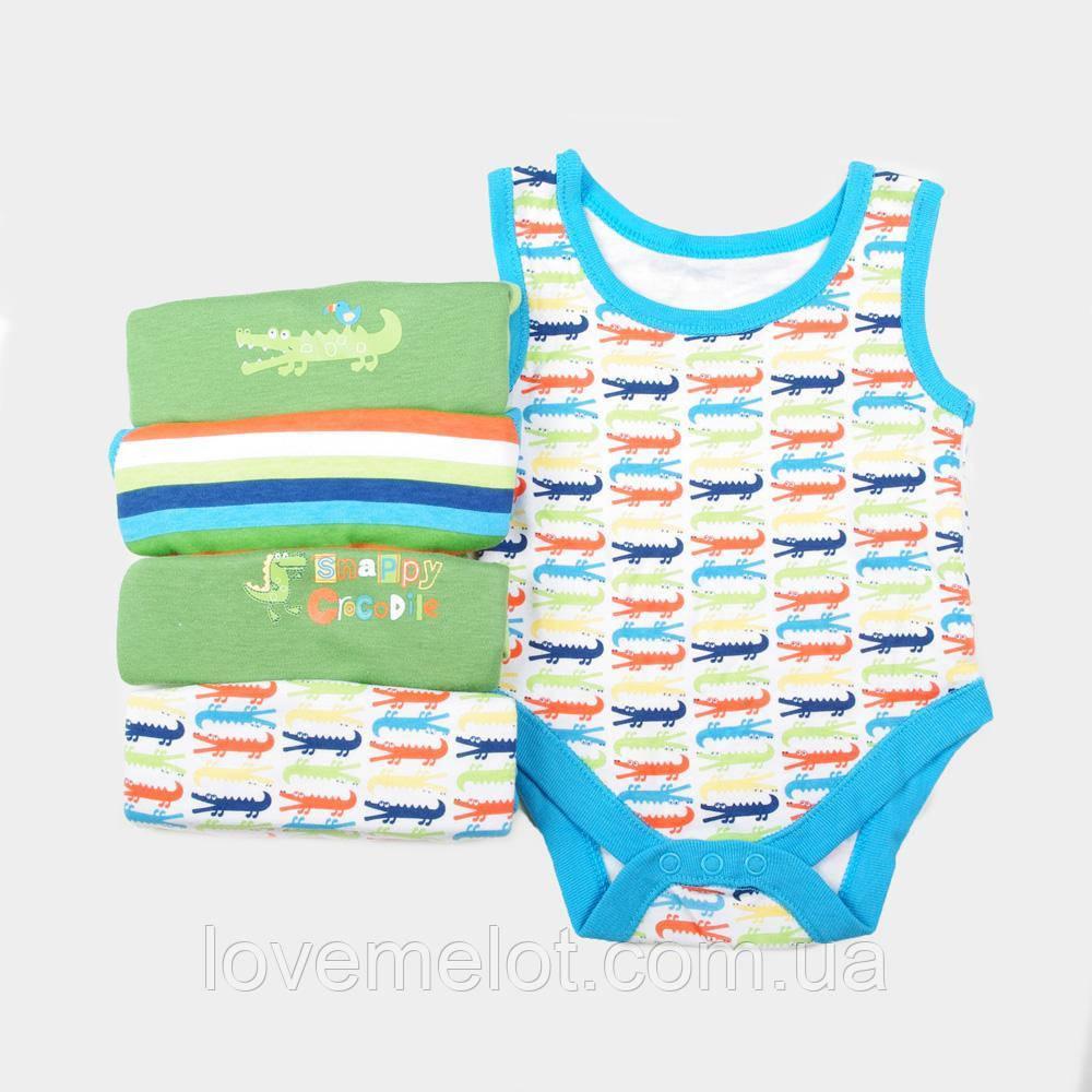 """Детские бодики-майки для новорожденного близнецов на рост 50см  """"Крокодил Гена"""""""
