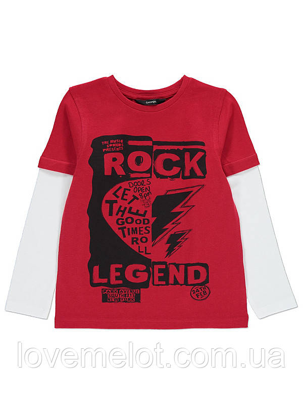 """Реглан с длинным рукавом George """"Рок-легенда"""" для мальчика на рост 116 см"""