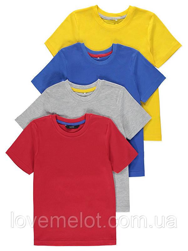 Футболка дитяча для хлопчика синя George ріст 104 і 110см футболка з коротким рукавом