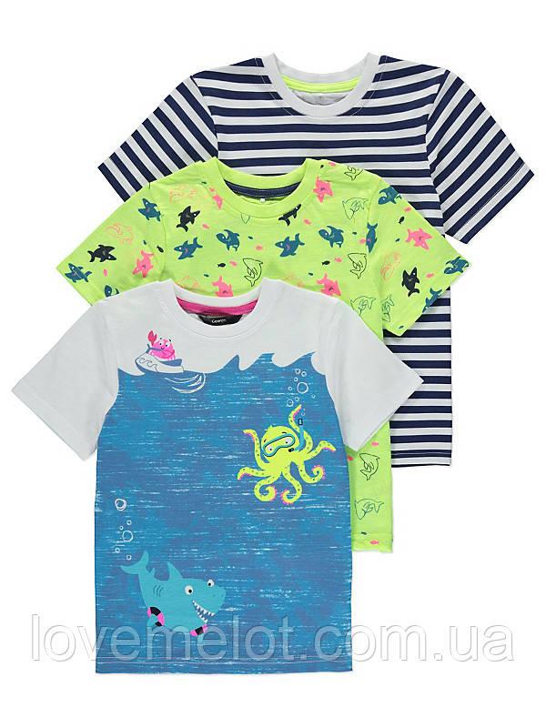 """Детские Футболки для мальчика George """"Морские каникулы"""" , набор 3 шт , размер 2-3 года"""