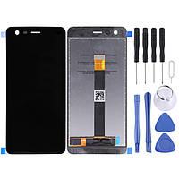 Дисплейный модуль, экран Nokia 2 черный