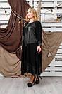 Плаття великого розміру Хельга чорний, фото 2