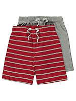 """Трикотажные хлопковые шорты """"Джейкоб"""" для мальчика 2 пары в наборе, на рост 98, 104, 110, 116см одежда в садик"""