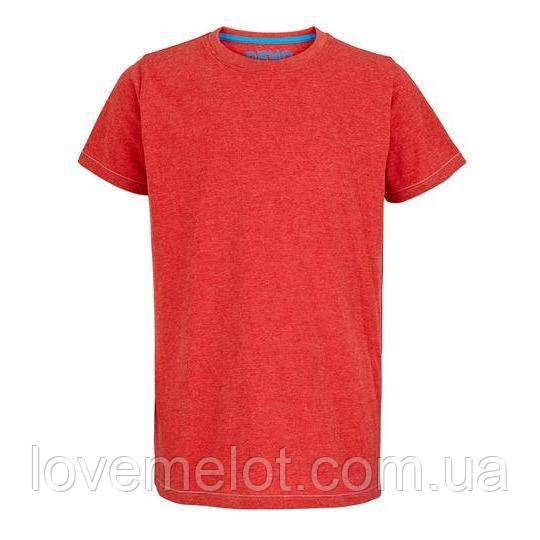 """Детская футболка однотонная красная """"Майкл"""" на рост 110см"""