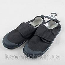 """Детские туфли для школы """"Сменка"""" чёрные, размер 36 см"""