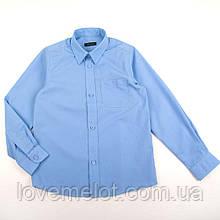 Детская Рубашка для мальчика голубая  школьная Top Class, размер 128 см