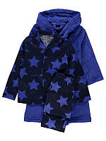 """Детский теплый велсофт халат + фланелевая пижамка теплая + игрушка """"Комфорт"""" для мальчика рост 104см"""